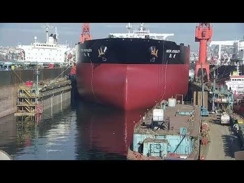 Embedded thumbnail for (VLCC) New Joviality Dry Dock Operation by TK TUZLA Shipyard