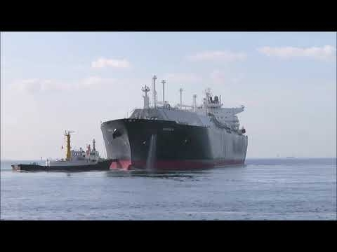 Embedded thumbnail for MAGDALA 離岸・出港 LNGタンカー(Liquefied Natural Gas Tanker )  by 後藤憲一