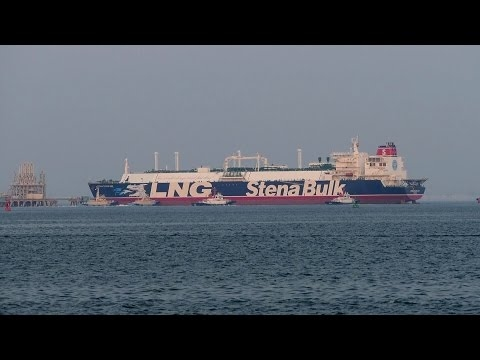 "Embedded thumbnail for LNG Tanker ""STENA CLEAR SKY"" Yokkaichi"