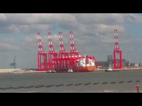 Embedded thumbnail for Zhen Hua 8 arrives in Liverpool 6-10-16
