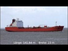 """Embedded thumbnail for Tanker """"HELENE KNUTSEN"""" auf der Elbe höhe Otterndorf"""