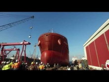 Embedded thumbnail for Launching of M/T Mia Desgagnés