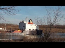 Embedded thumbnail for Ships CAPT. HENRY JACKMAN & THALASSA DESGAGNES passing on Welland Canal