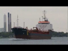 Embedded thumbnail for Jana Desgagnes heading up the St. Clair River passing St. Clair, Michigan on September 4, 2011.
