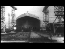 """Embedded thumbnail for Largest Tanker ship ,""""Myrina"""" being launched at Harland and Wolff shipyard"""