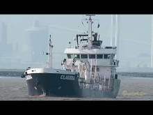 Embedded thumbnail for tanker CLAUDIA ex FJORD ONE SBZU IMO 9280110 inbound Emden Bunkerschiff