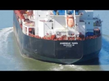 Embedded thumbnail for Overseas Tampa transiting Carquinez Straits with tugs Liberty and Lynn Marie in escort