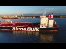 Embedded thumbnail for Aerial Drone Video of Oil Chemical Tanker Ship Stena Penguin Delaware River Philadelphia