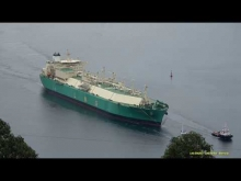 Embedded thumbnail for LNG ENUGU Entering the bay of Ferrol (ES) towards Mugardos terminal - 3 November 2017